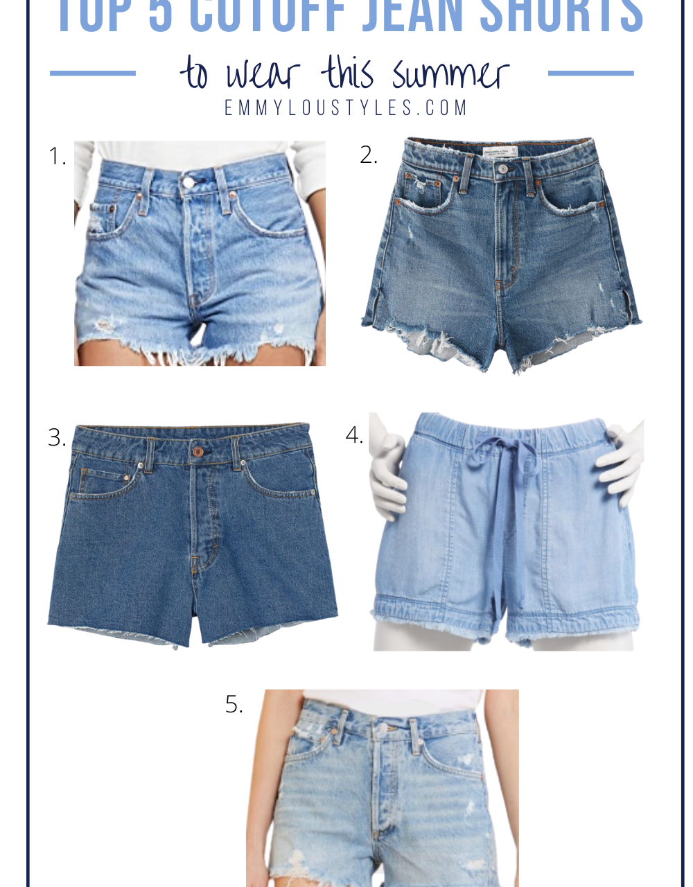 Top 5 CutOff Jeans Shorts To Wear This Summer