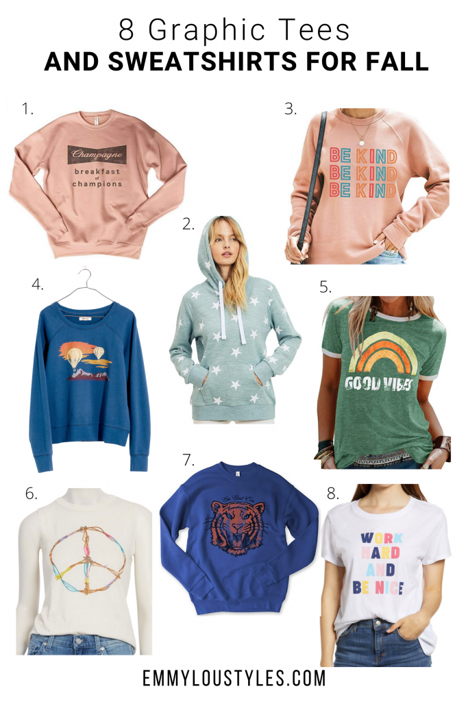 GRAPHIC TEES AND SWEATSHIRTS FOR FALL