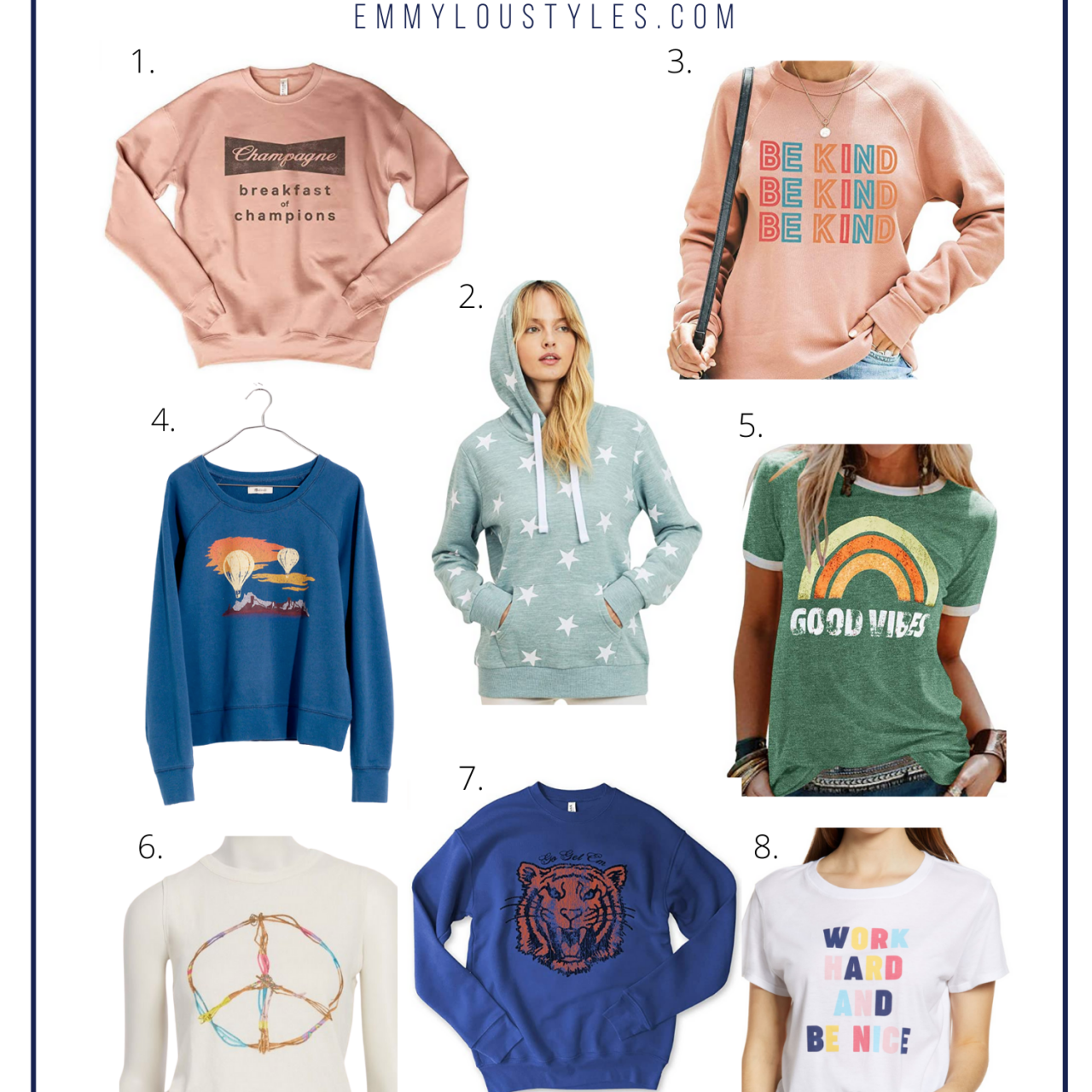 8 Graphic Tees and Sweatshirts for Fall