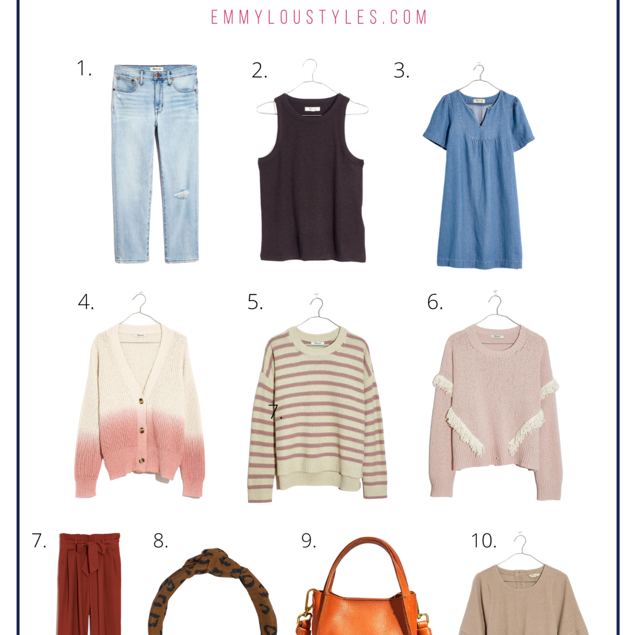 10 Madewell Must Haves for Fall Under $100