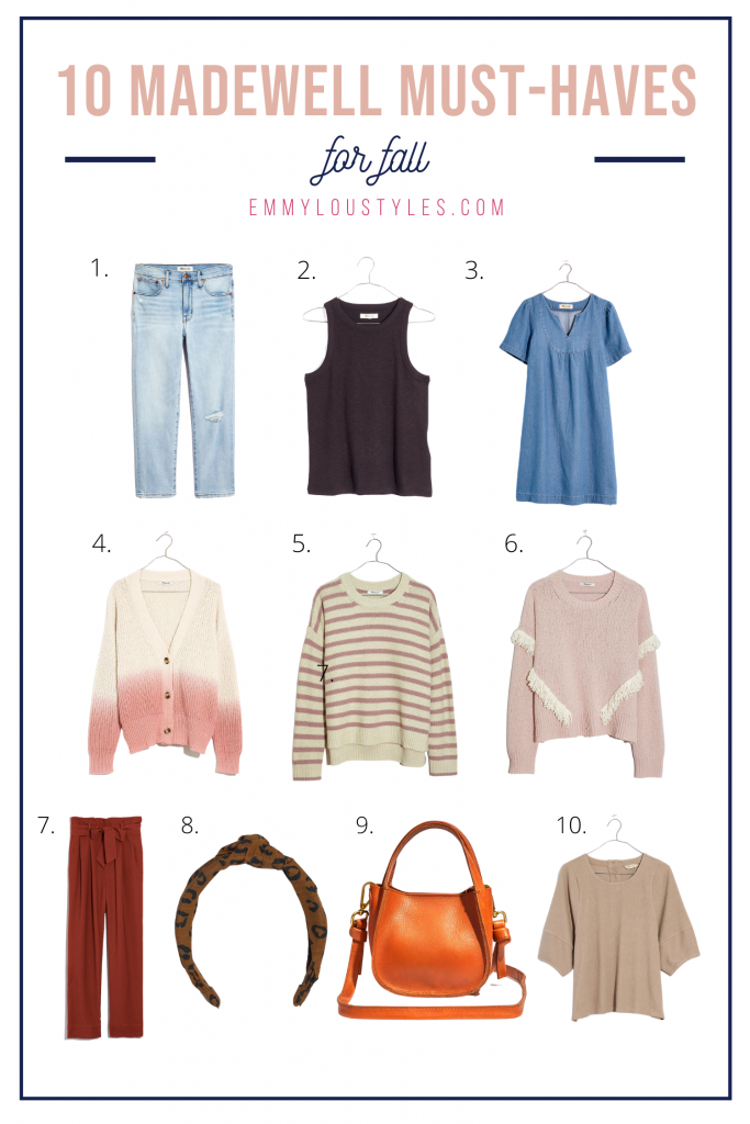 madewell must haves for fall