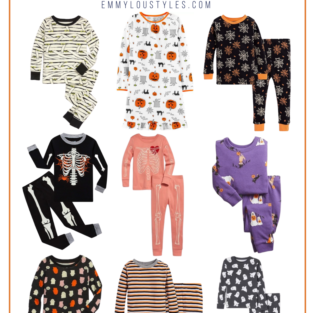 15 Halloween Pajama Sets for Kids
