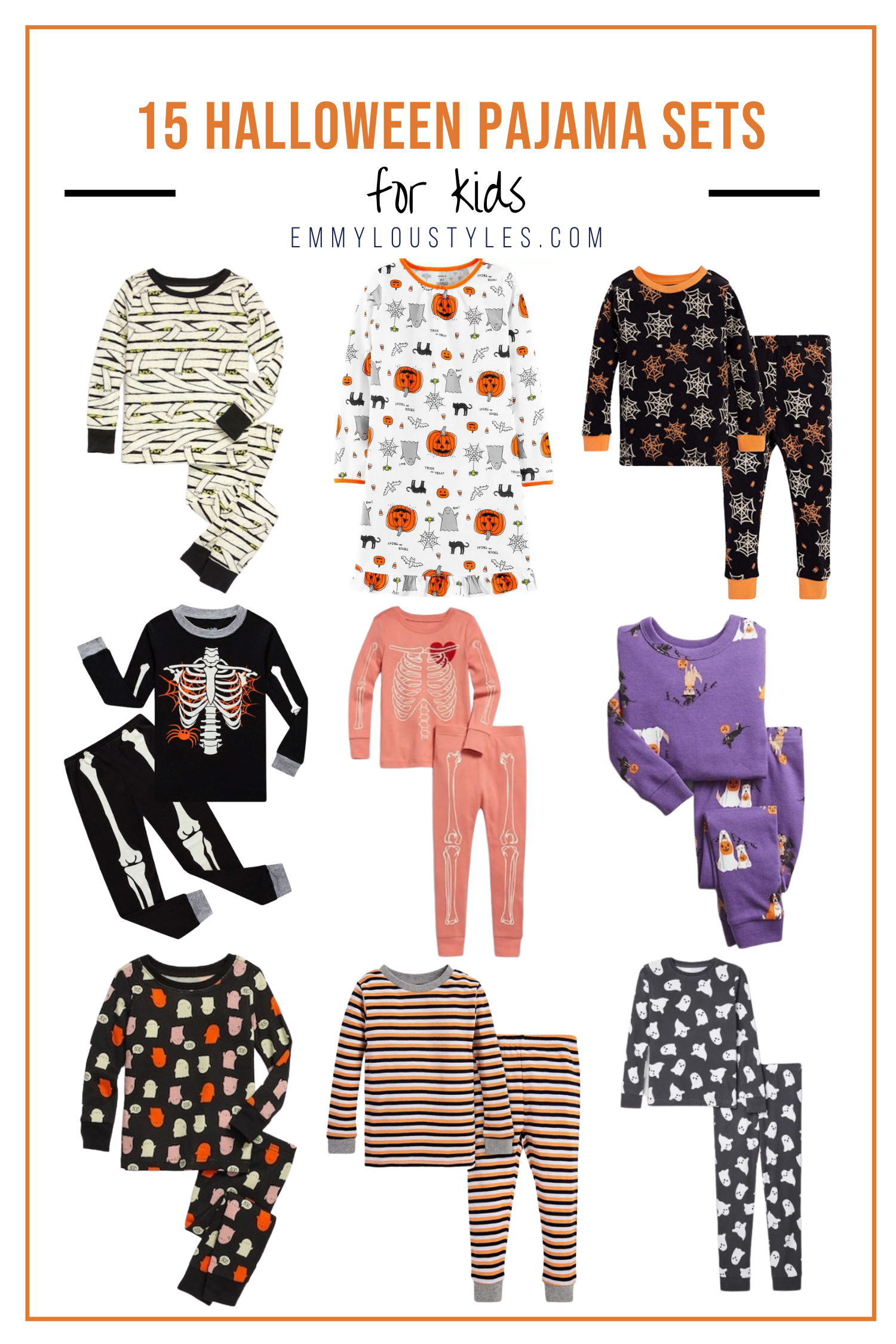halloween pajama sets for kids