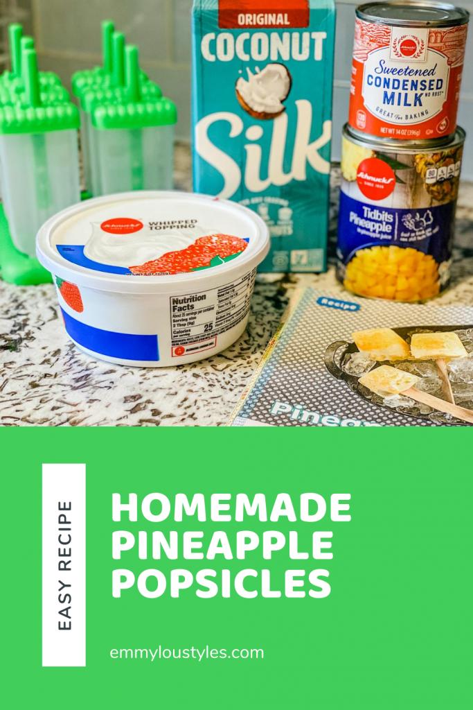 easy homemade pineapple popsicles