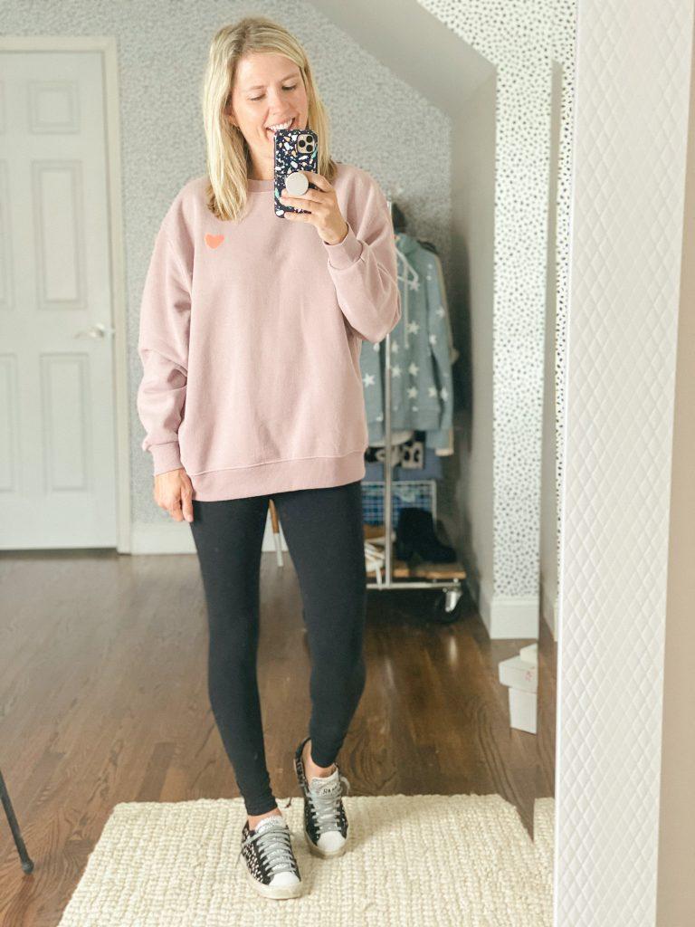 Heart sweatshirt from Target