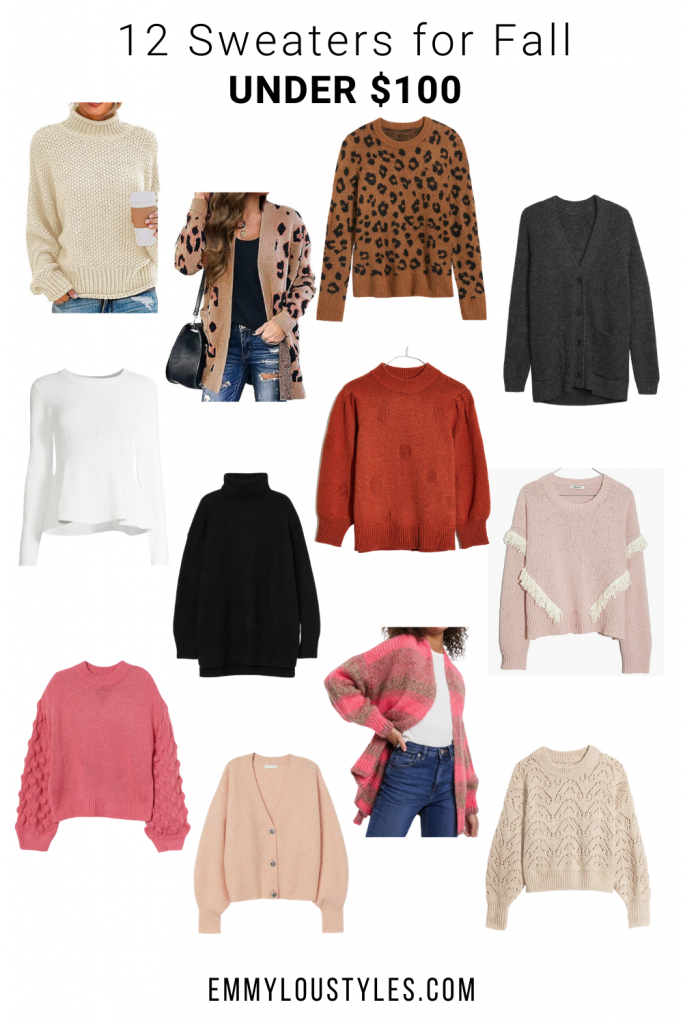 12 SWEATERS FOR FALL UNDER $100