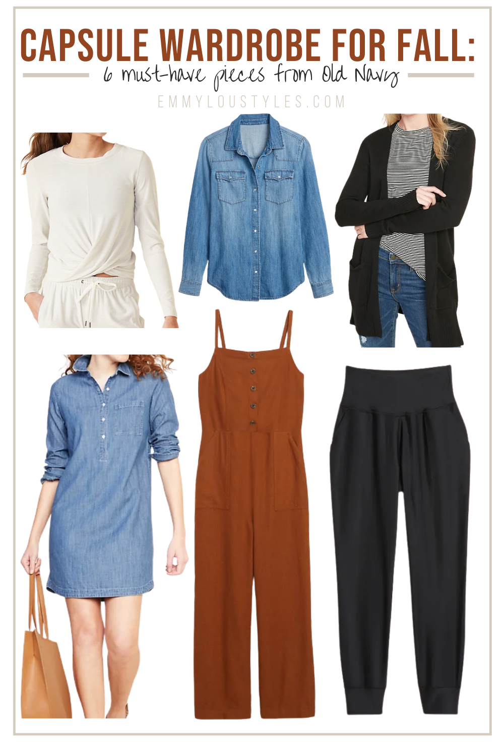 fall capsule wardrobe old navy must-haves