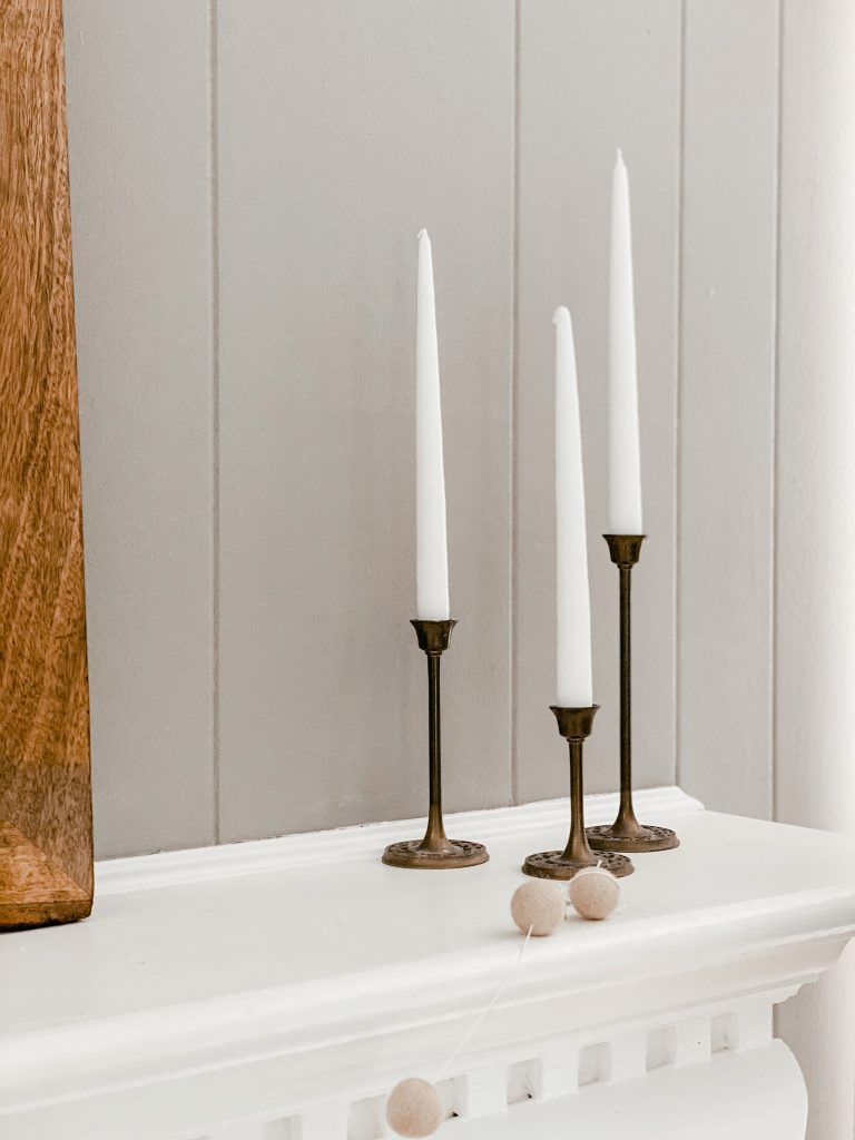 brass candlesticks fall decor
