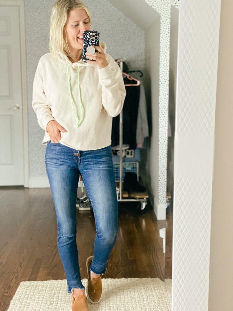 cropped hoodie sweatshirt for fall