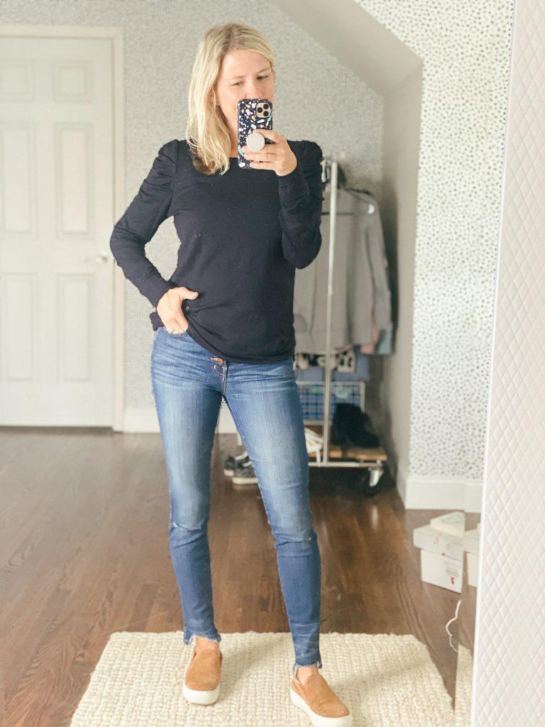princess sleeve black sweatshirt