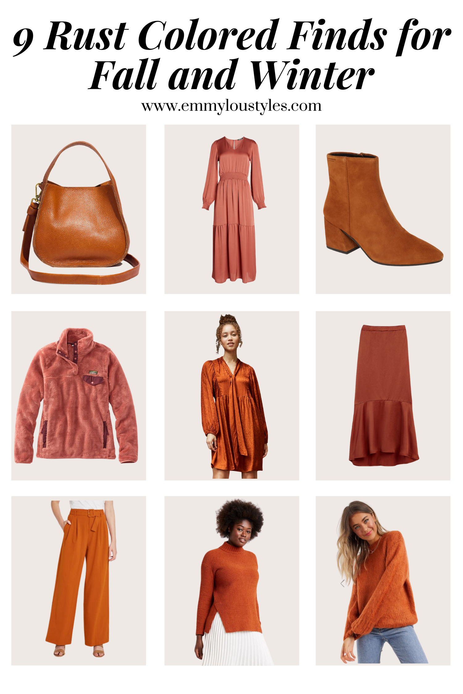 rust colored finds for fall and winter
