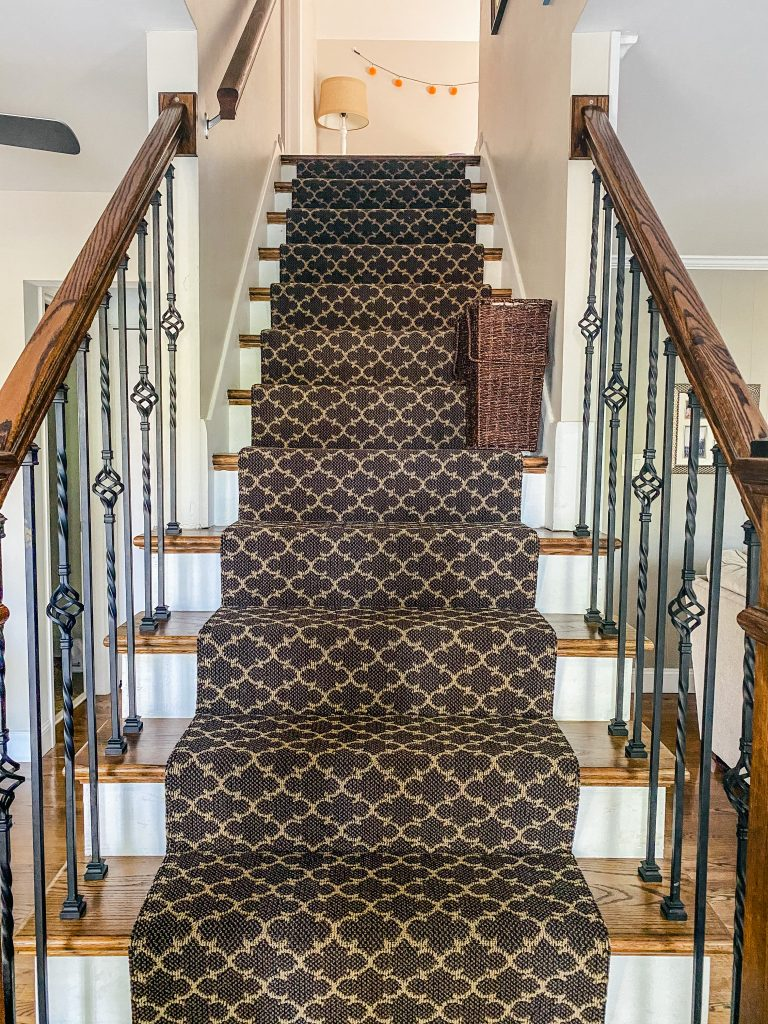 Carpet Runner with Trellis pattern