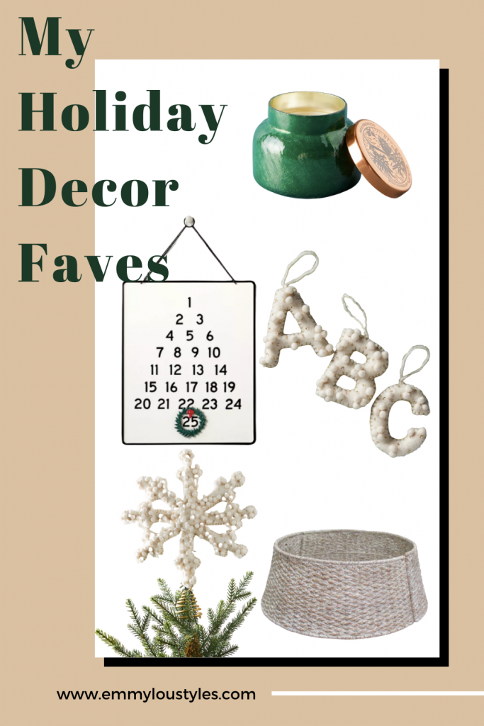 holiday decor finds tree topper and ornaments