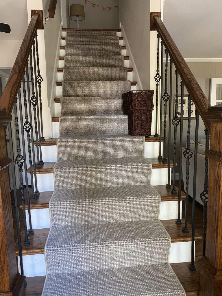 Neutral colored Stanton carpet runner