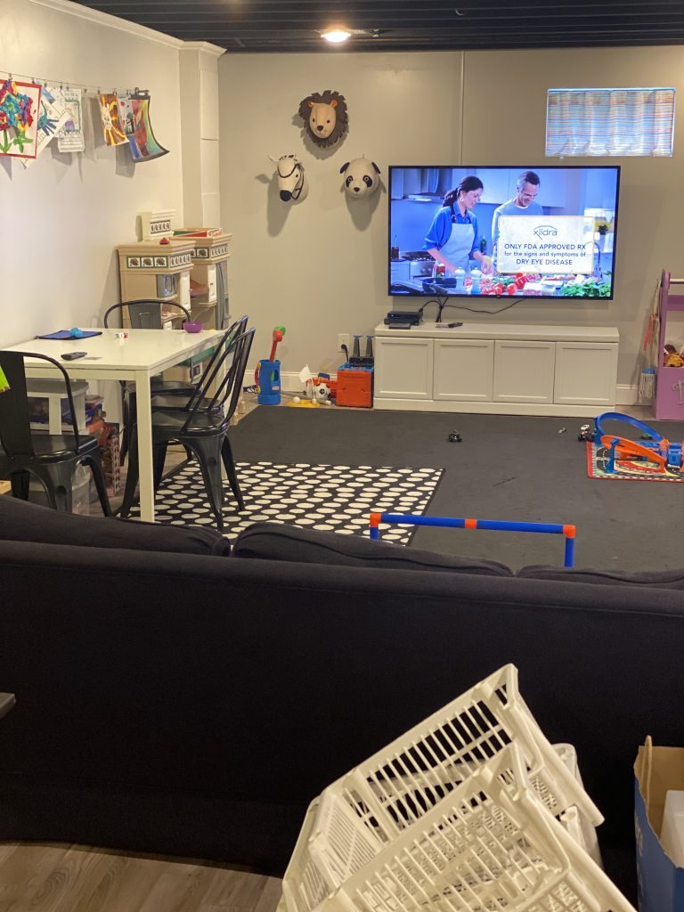 Playroom before being organized