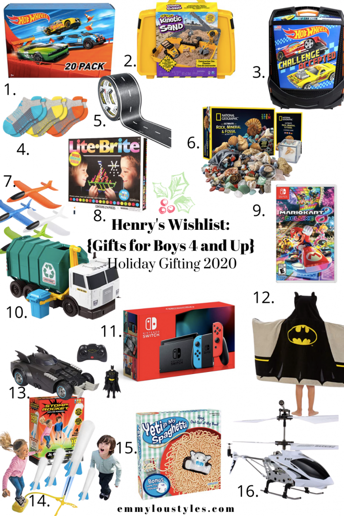 Gifts for boys ages 4 and up