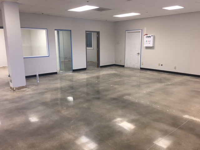 Concrete polishing floor example