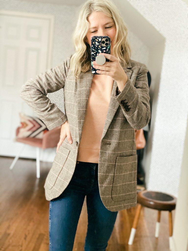 Plaid oversized blazer from Madewell