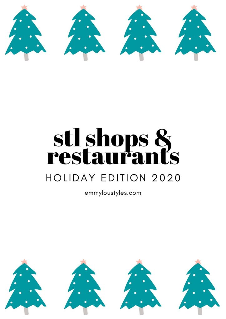 Restaurants and boutiques to shop in and around Saint Louis Missouri.