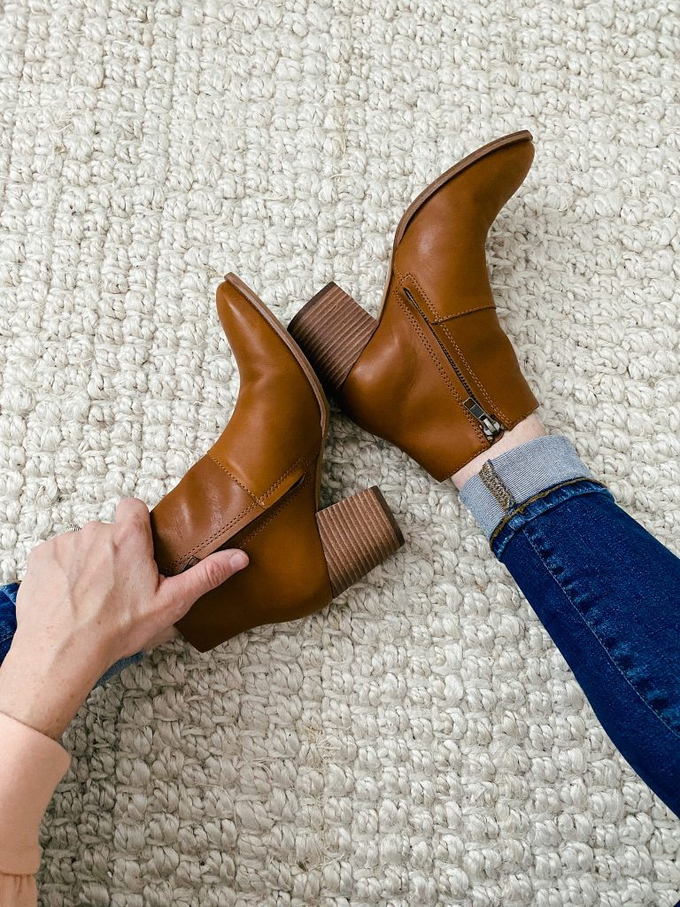 The Brynn brown bootie from Madewell