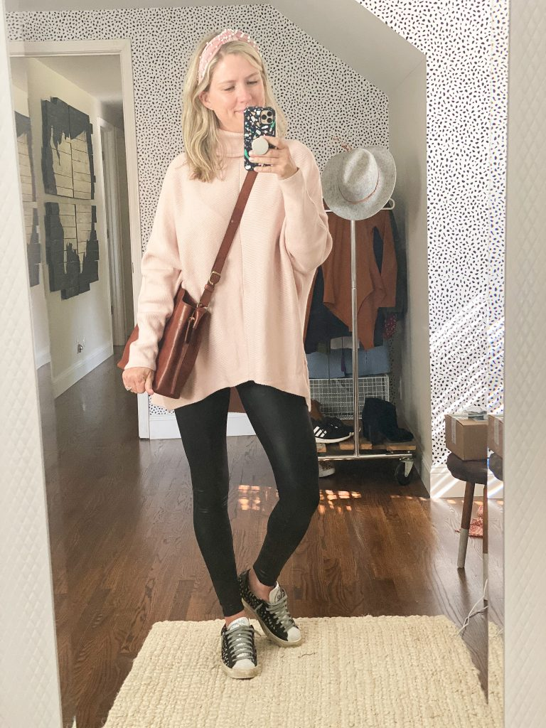 Oversized womens sweater from Amazon with leggings