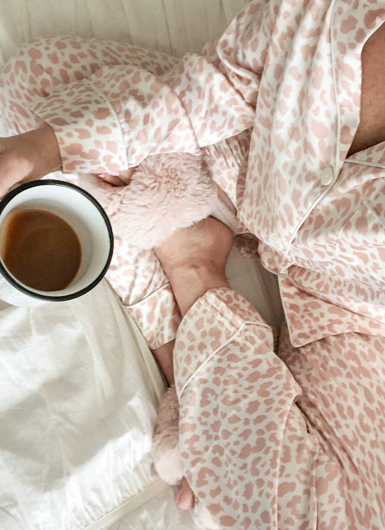 Satin long sleeve pajama set for women from Amazon