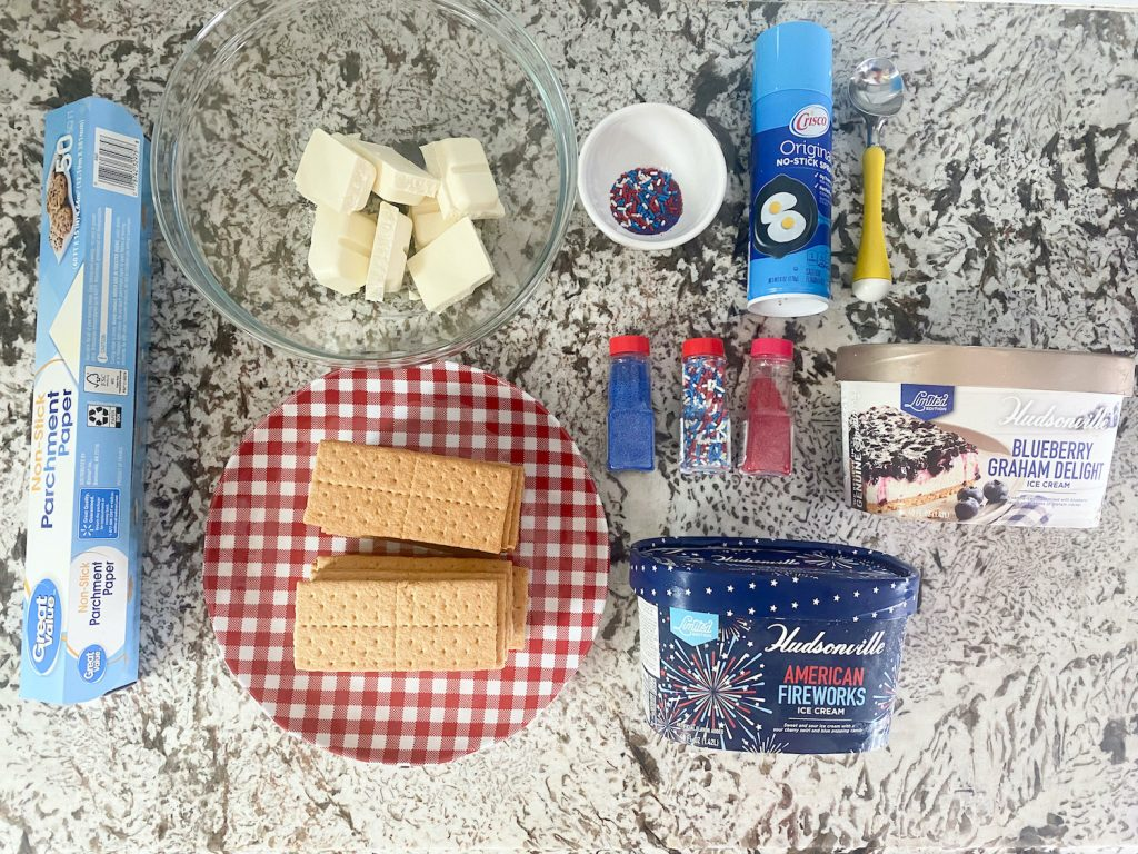 ingredients needed for homemade ice cream sandwiches